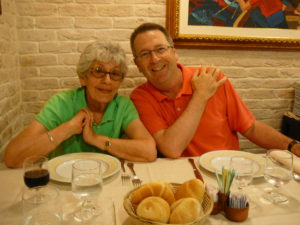 Mom and Jim, Italy 2009