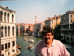 John, the Grand Canal, Venice 1988