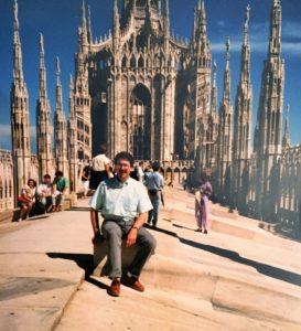 Jim roof of the Duomo, Milan 1988