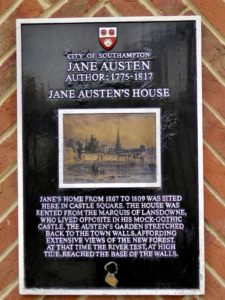From Jane Austen's home in Southampton.